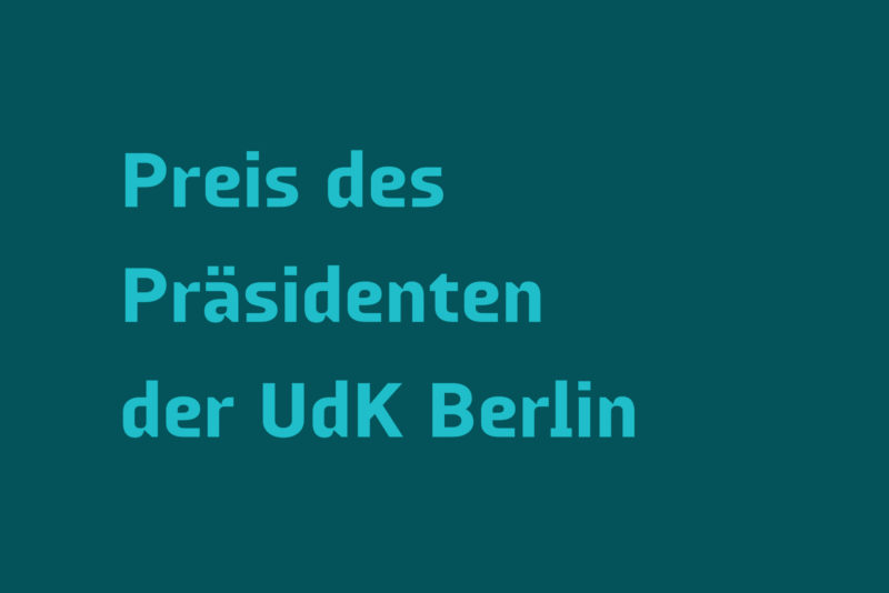 Preis des Präsidenten der UdK Berlin, Galerie Nord | Kunstverein Tiergarten